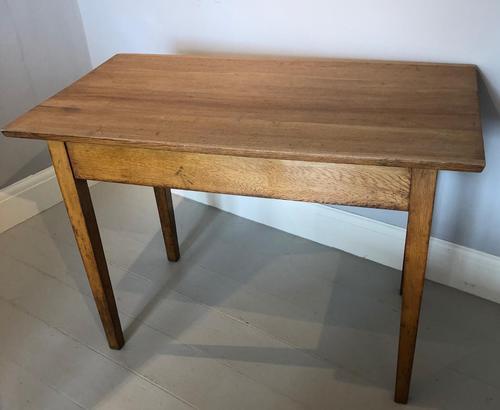 Small Light Oak Table (1 of 3)