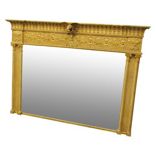 Adams Style Gilt Overmantel Mirror (1 of 13)
