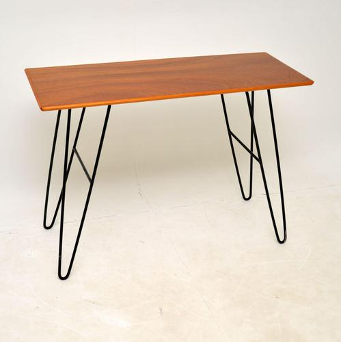 1960's Vintage Mahogany Hairpin Side / Console Table (1 of 7)