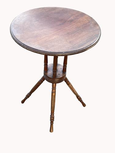 Lovely Circular Walnut Arts & Crafts Wine Table (1 of 6)