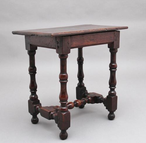 Early 18th Century Oak Stool (1 of 6)