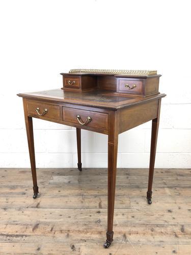 Antique Edwardian Mahogany Bonheur Du Jour Desk (1 of 15)