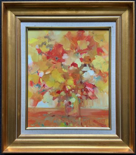 Lovely 20th Century British Impressionist School Floral Still Life Oil Painting (1 of 10)