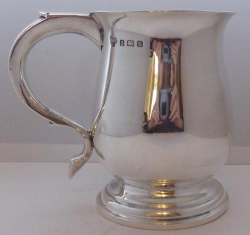 1934 Hallmarked Solid Silver 1/2 Pint Tankard Christening Mug Selfridge & Co (1 of 10)