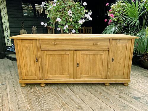 Big! Old 2m Pine Dresser Base Sideboard / Cupboard / TV Stand - We Deliver! (1 of 13)