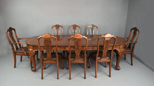 Antique Walnut Dining Suite by S Hille & Co London (1 of 12)
