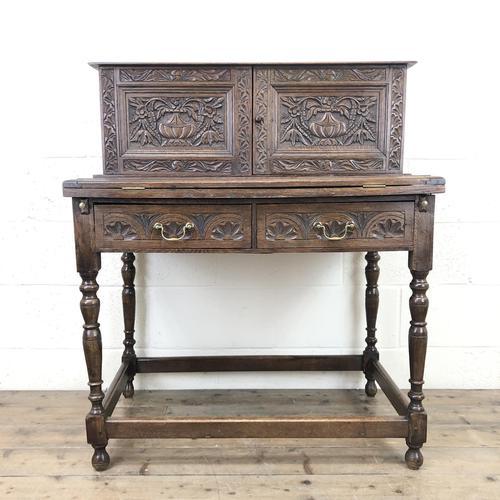 Antique Oak Carved Desk (1 of 13)