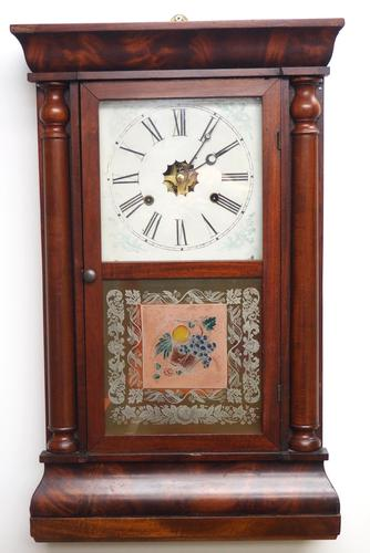 Antique American Ogee Wall Clock – Weight Driven Wall / Mantel Clock (1 of 12)