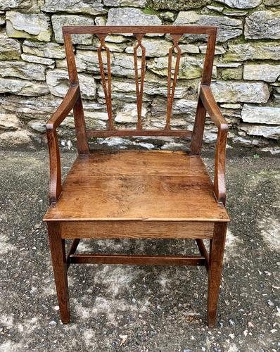 Antique Country Oak Armchair (1 of 14)