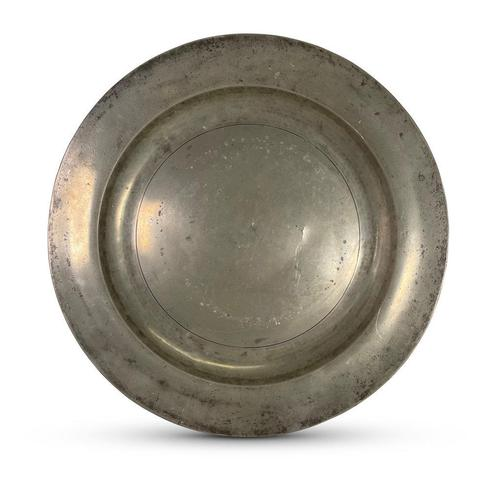 English Pewter Charger (1 of 4)