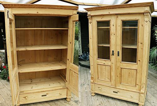 Fabulous Old Pine 'Knock Down' Glazed Display Cabinet (1 of 10)