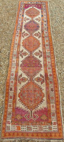 Antique Sarab Carpet Runner Rare Colours (1 of 9)