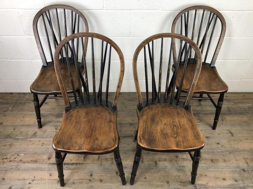 Set of Four 19th Century Ash and Elm Hoop Back Chairs (1 of 13)