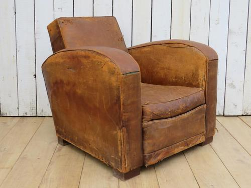 1930s French Leather Club Chair (1 of 13)