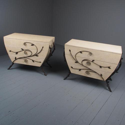 Pair of Fossilized Stone Chests of Drawers (1 of 11)