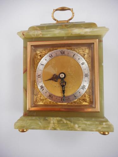Elliott Green Onyx 8 Day Mantle Clock (1 of 7)