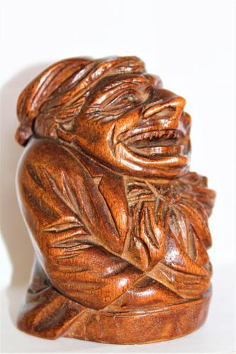 Amusing Carved Hardwood Money Box of Scrooge (1 of 6)