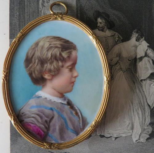 Miniature Portrait of a Young Edwardian Boy c.1910 (1 of 4)