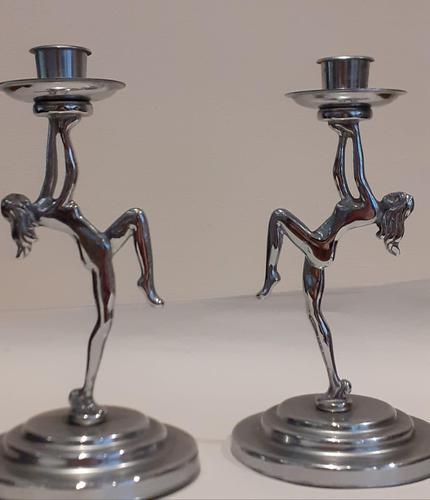 Art Deco Candlesticks (1 of 4)