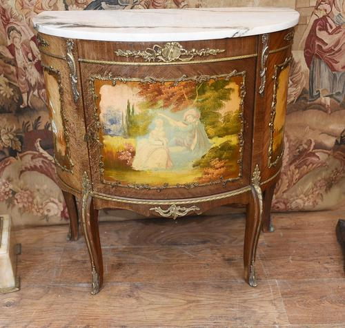 French Painted Commode Vernis Martin Antique Chest c.1920 (1 of 5)