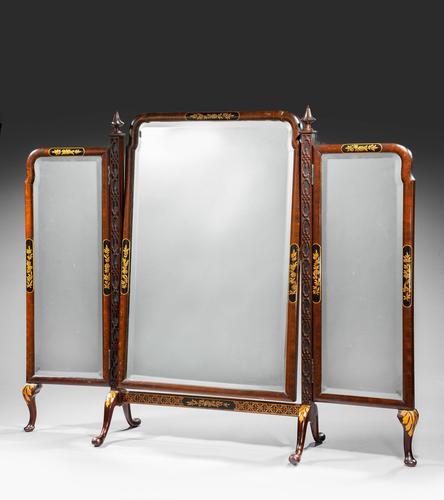 19th Century Triple Plate Dressing Mirror (1 of 5)