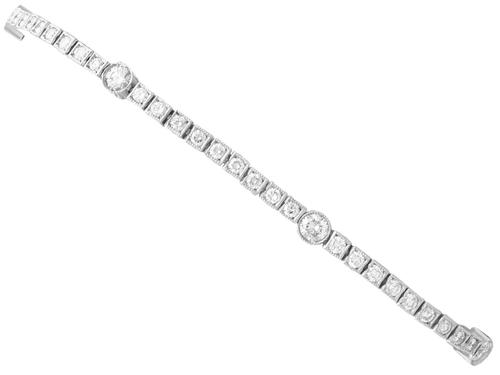 2.95ct Diamond & Platinum Bracelet c.1930 (1 of 12)