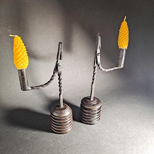 Pair of 19th Century Iron Rushlights (1 of 5)