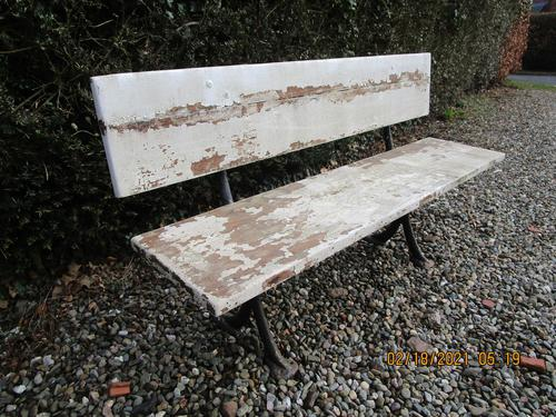 Victorian Cast Iron & Wood Garden Bench (1 of 5)