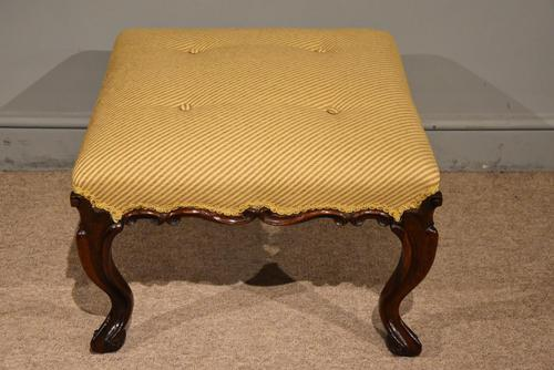 Victorian Carved Rosewood English Stool (1 of 5)