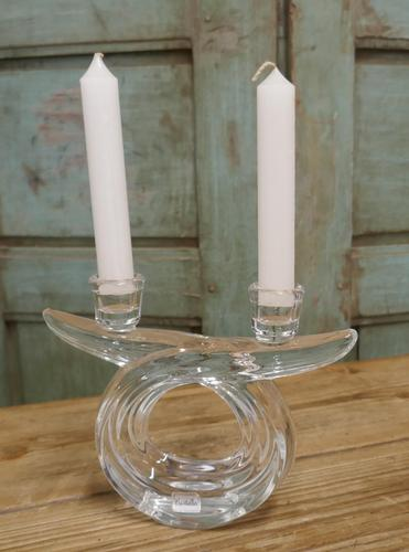 Pair of Art Deco Twin Crystal Candlesticks (1 of 5)