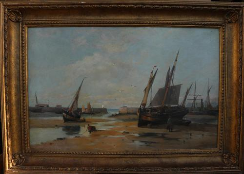 Boats in the harbour by James Webb (1 of 8)