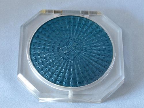 Art Deco Lucite & Guilloche Compact (1 of 4)