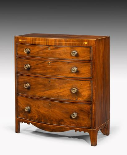 Most Attractive George III Period Mahogany Bow Front Chest of Drawers (1 of 6)