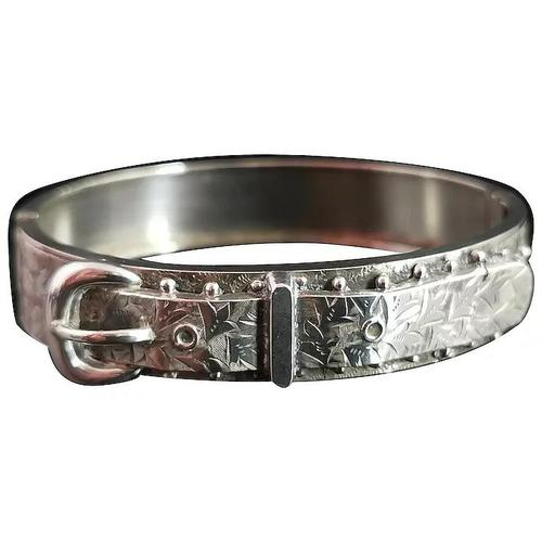 Antique Victorian Silver Buckle Bangle (1 of 11)