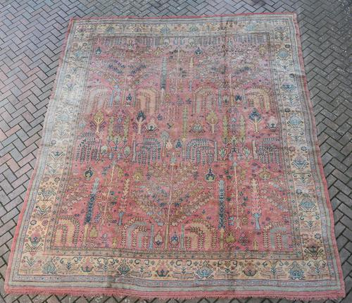 Antique Ushak Carpet 395x328cm (1 of 12)