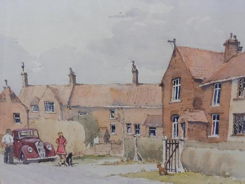 Watercolour Country Village Exhibited Artist Tony Hunter (1 of 10)