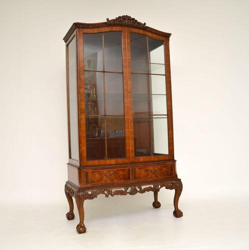 Burr Walnut Display Cabinet c.1930 (1 of 11)