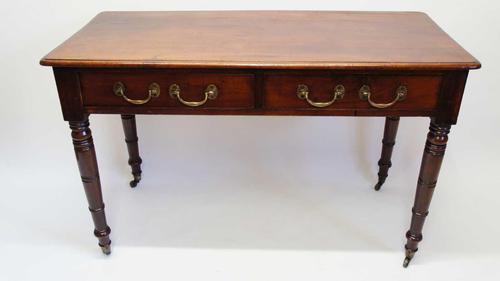 Georgian Mahogany Twin Drawer Writing Table / Side Table (1 of 22)