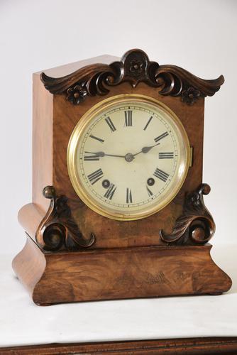 W&H Walnut Bracket / Mantel Clock (1 of 4)