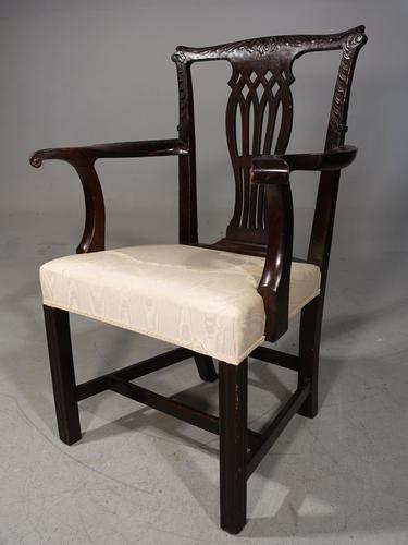 Early 20th Century Neoclassical Mahogany Elbow Chair (1 of 5)