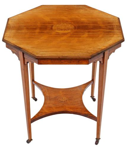 19th Century Rosewood Octagonal Centre or Window Table Occasional Side (1 of 6)