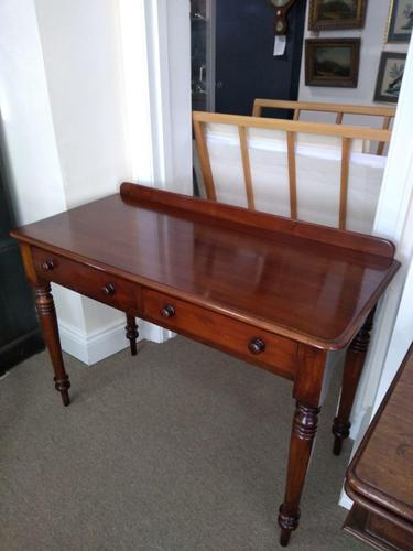 Victorian Mahogany Writing Table or Dressing Table (1 of 5)