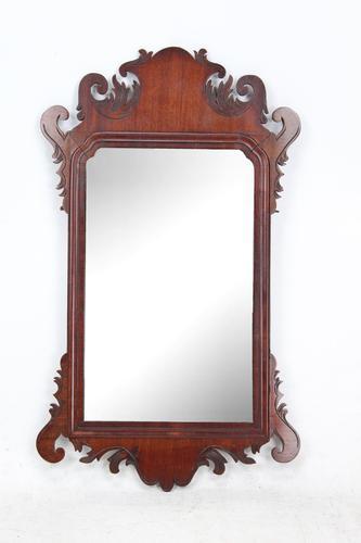 Small Georgian Mahogany Fretwork Mirror (1 of 13)