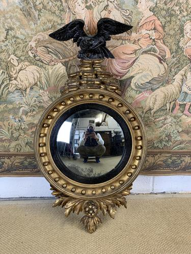 Regency Convex Mirror with Eagle Decoration (1 of 6)