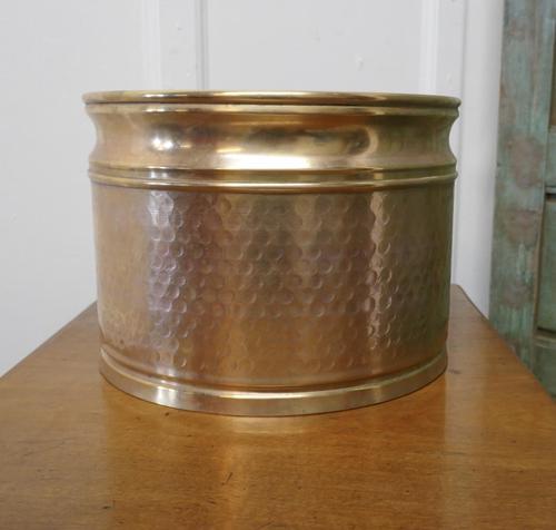 Beaten Brass Planter (1 of 6)