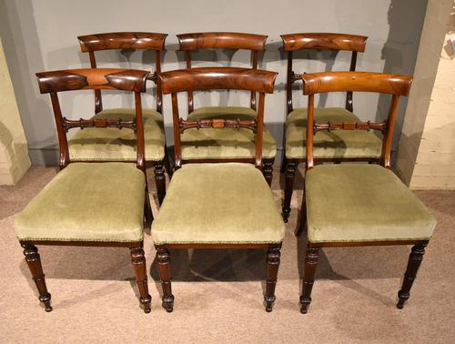 Set of Six William IV Rosewood Dining Chairs (1 of 8)