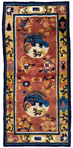 Antique Chinese Ningxia Rug 1.59m x 0.74m (1 of 9)