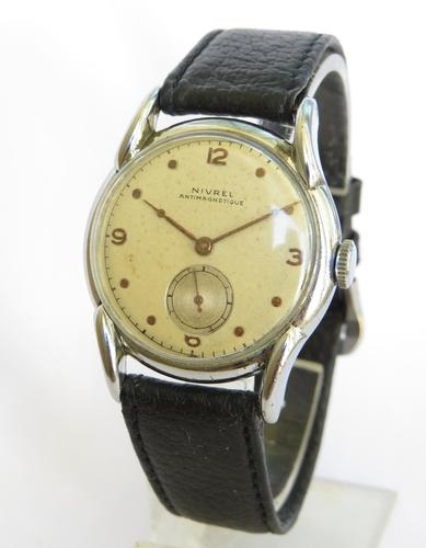 Gents 1940s Nivrel Wrist Watch by Marvin (1 of 5)
