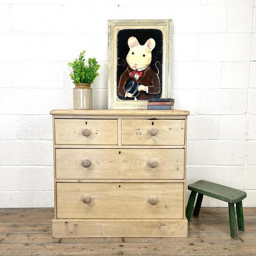 Rustic Antique Pine Chest of Drawers (1 of 10)