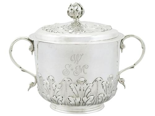 Sterling Silver Porringer and Cover - Antique William III (1689) (1 of 12)